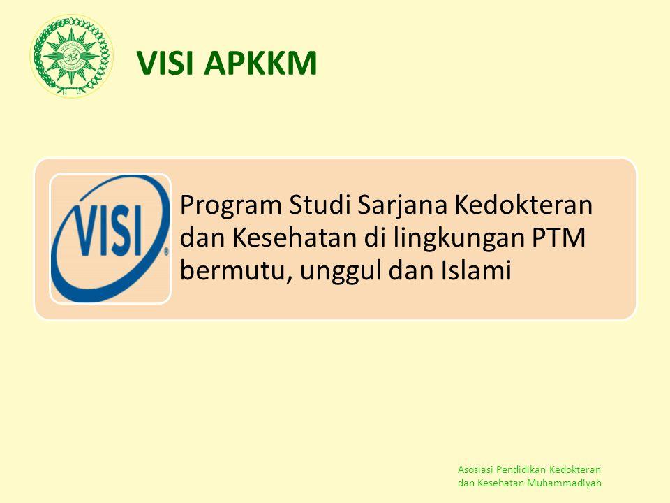 VISI APKKM Program Studi Sarjana Kedokteran dan Kesehatan di lingkungan PTM bermutu, unggul dan Islami.