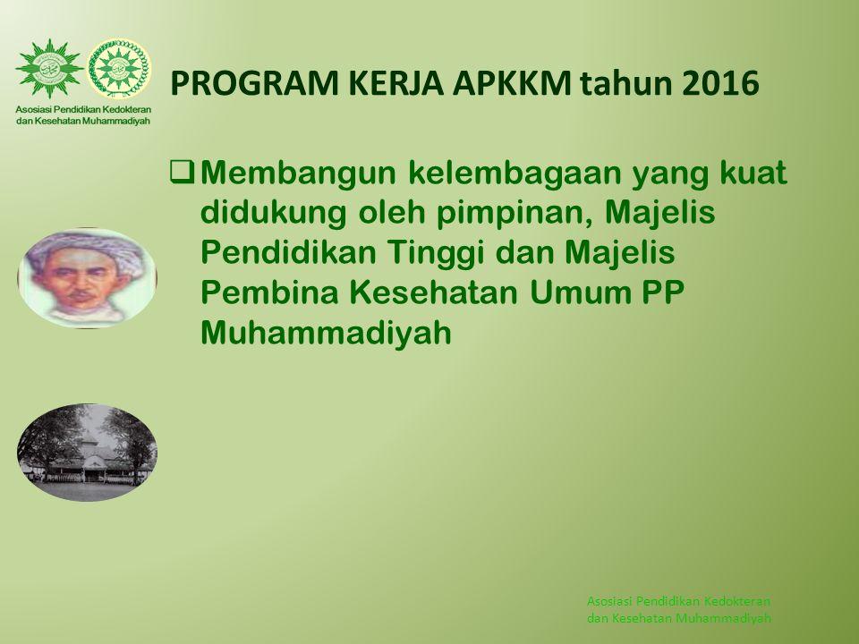 PROGRAM KERJA APKKM tahun 2016