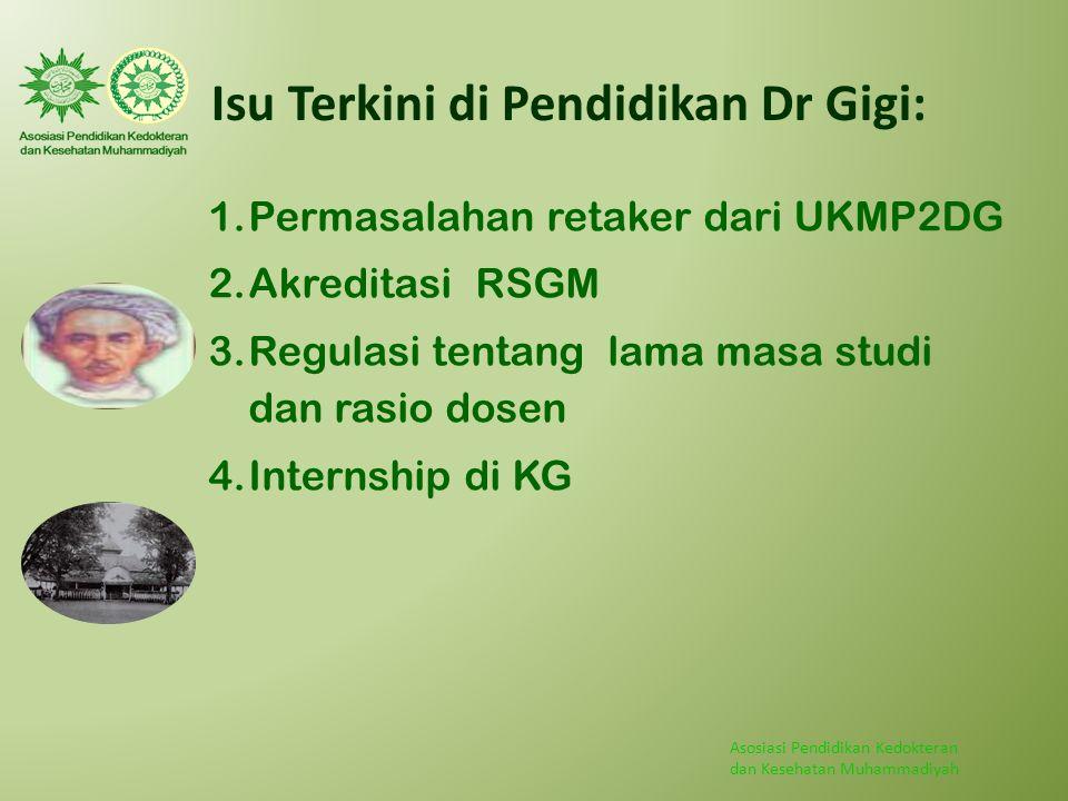 Isu Terkini di Pendidikan Dr Gigi: