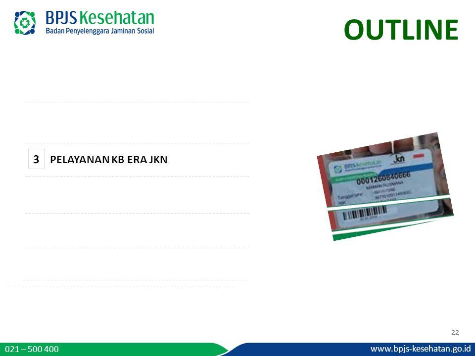 OUTLINE 3 PELAYANAN KB ERA JKN 021 – 500 400 www.bpjs-kesehatan.go.id