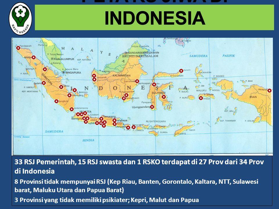PETA RS JIWA DI INDONESIA