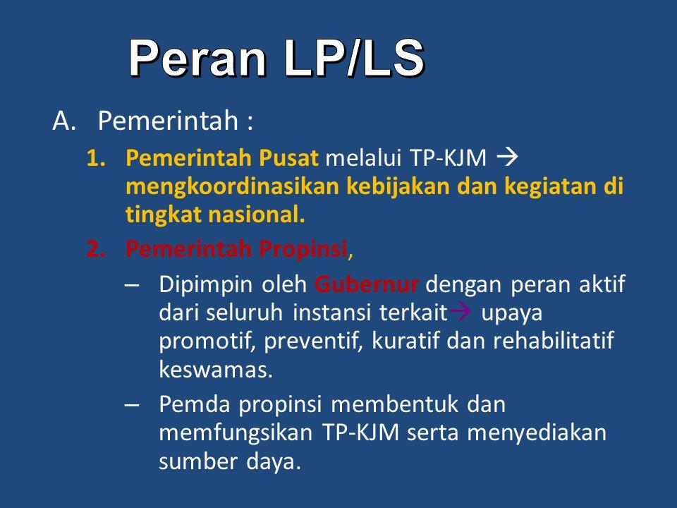 Peran LP/LS Pemerintah :