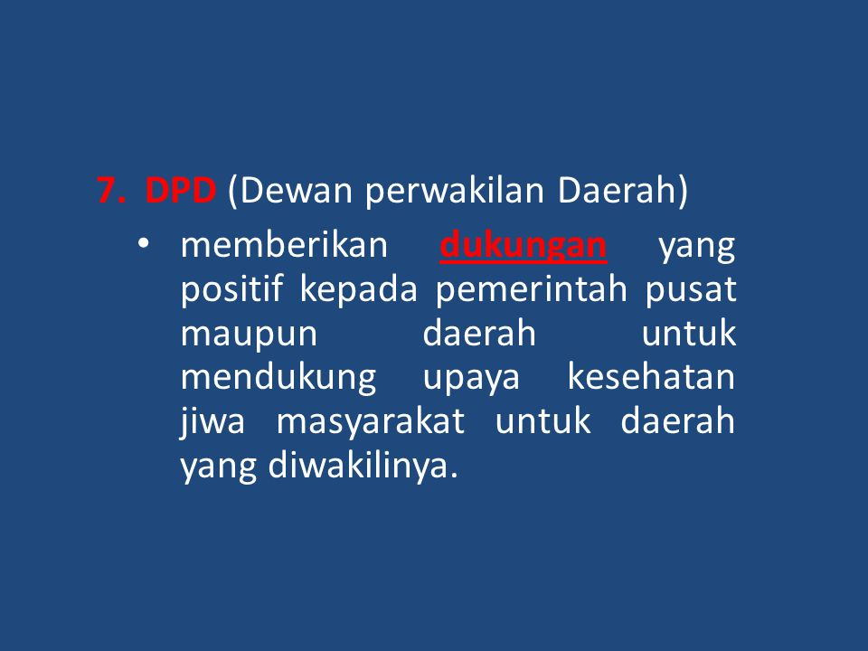 DPD (Dewan perwakilan Daerah)