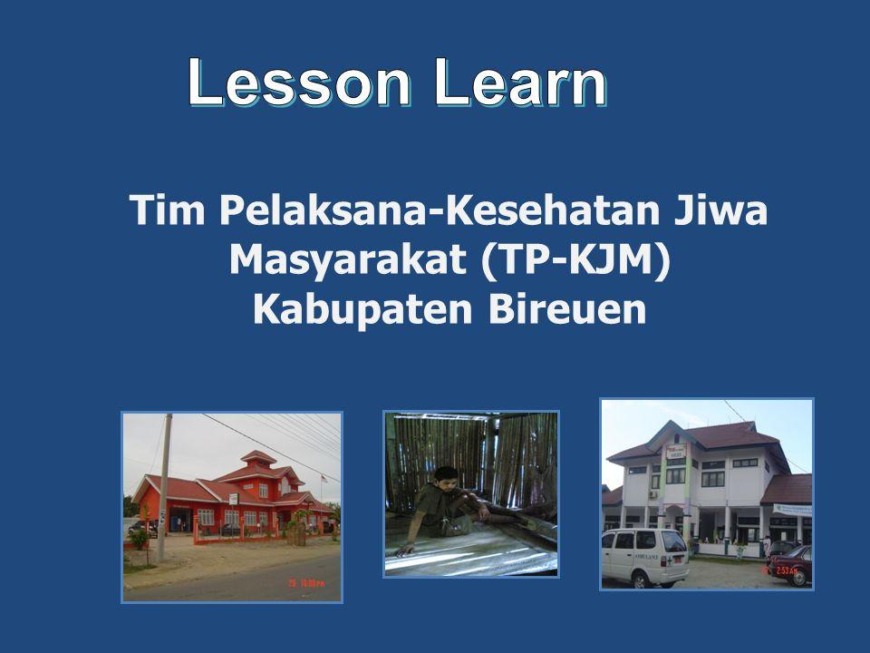 Tim Pelaksana-Kesehatan Jiwa Masyarakat (TP-KJM) Kabupaten Bireuen