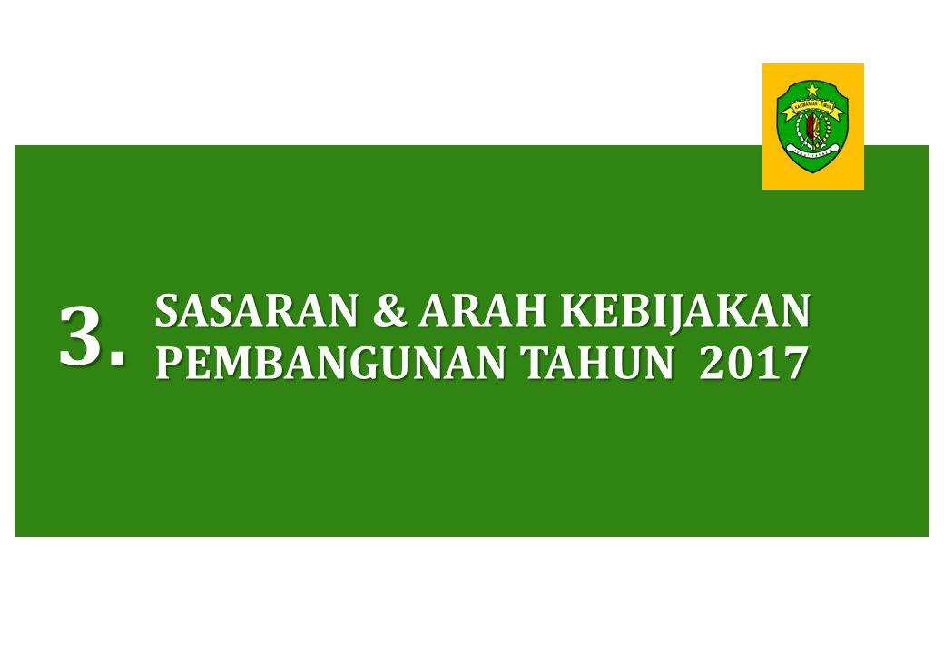SASARAN & ARAH KEBIJAKAN PEMBANGUNAN TAHUN 2017