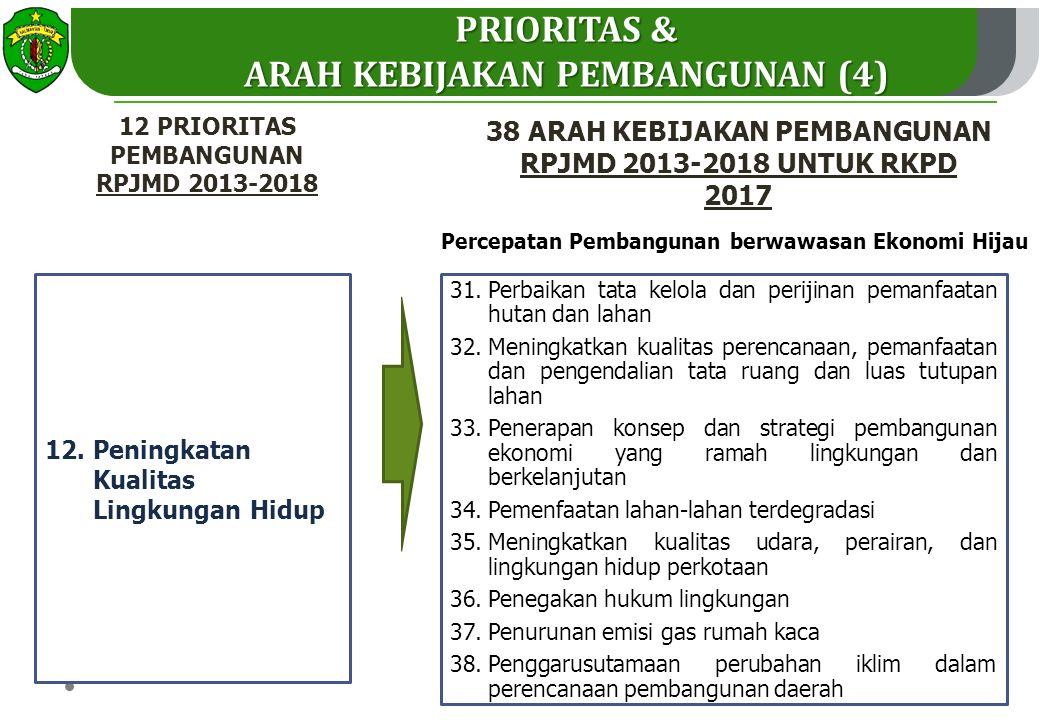 PRIORITAS & ARAH KEBIJAKAN PEMBANGUNAN (4)
