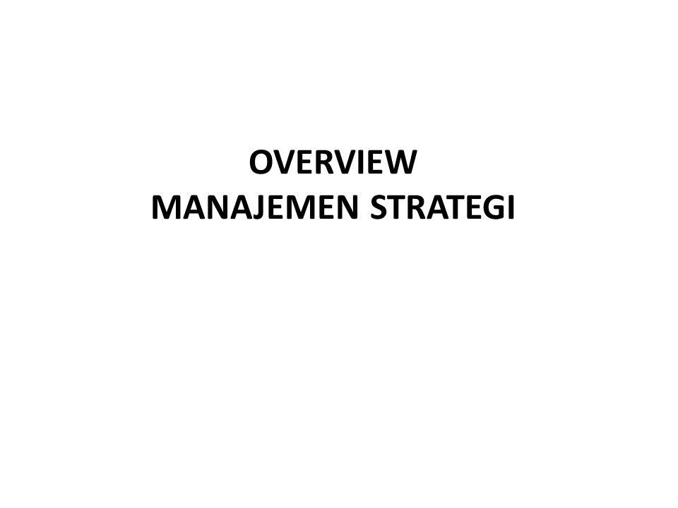 OVERVIEW MANAJEMEN STRATEGI
