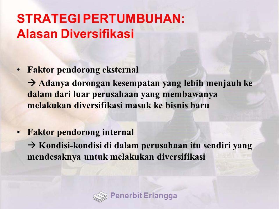STRATEGI PERTUMBUHAN: Alasan Diversifikasi