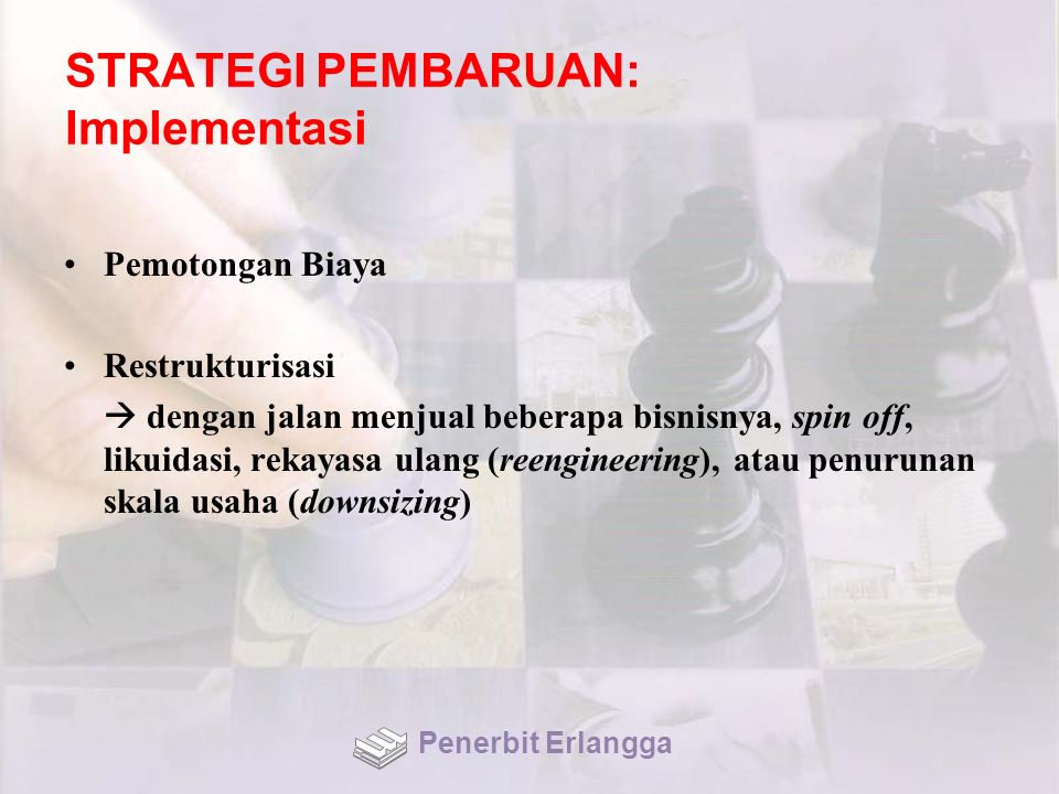 STRATEGI PEMBARUAN: Implementasi