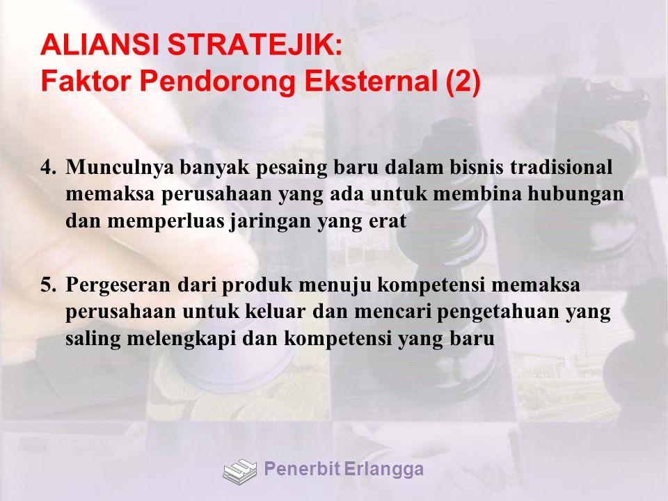 ALIANSI STRATEJIK: Faktor Pendorong Eksternal (2)