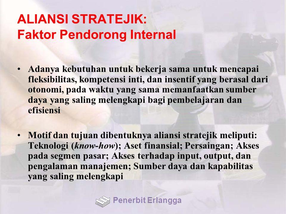 ALIANSI STRATEJIK: Faktor Pendorong Internal