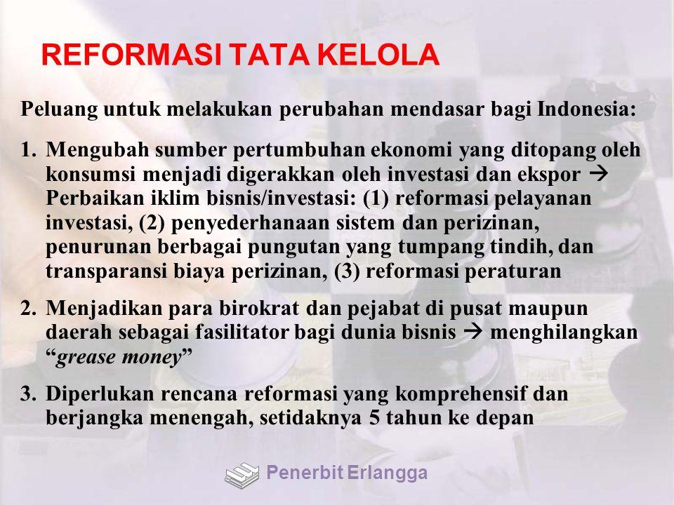 REFORMASI TATA KELOLA Peluang untuk melakukan perubahan mendasar bagi Indonesia:
