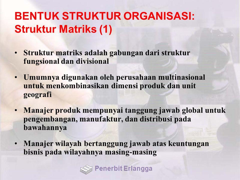 BENTUK STRUKTUR ORGANISASI: Struktur Matriks (1)