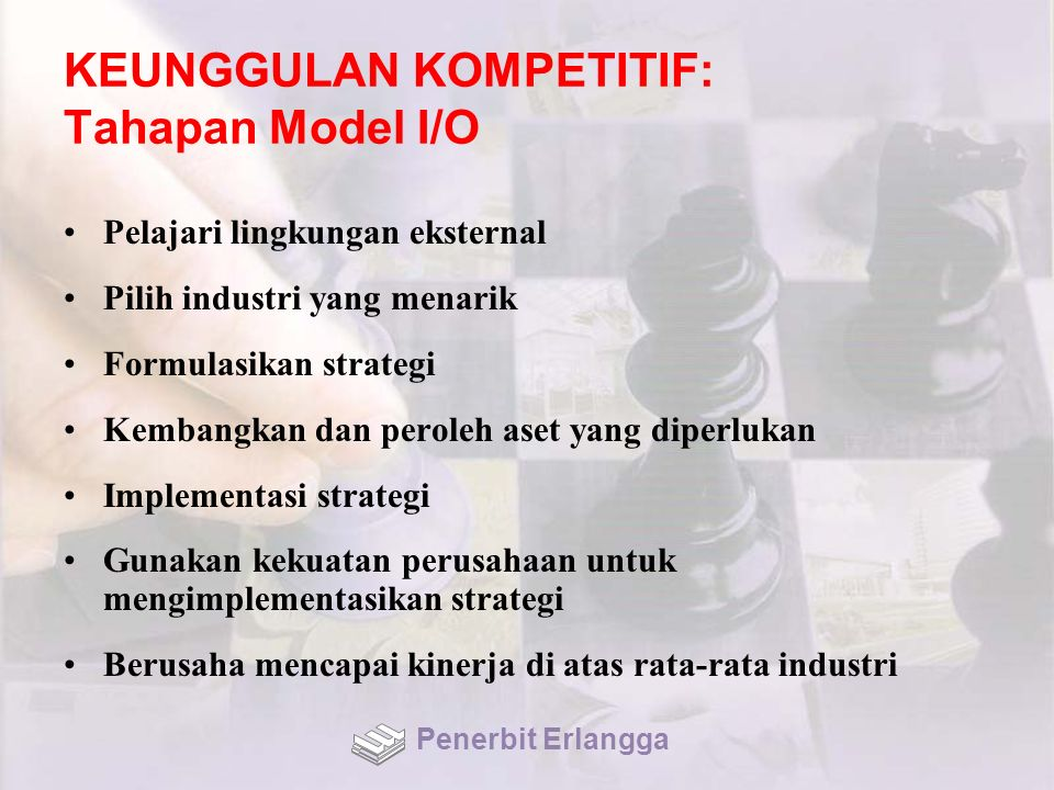 KEUNGGULAN KOMPETITIF: Tahapan Model I/O