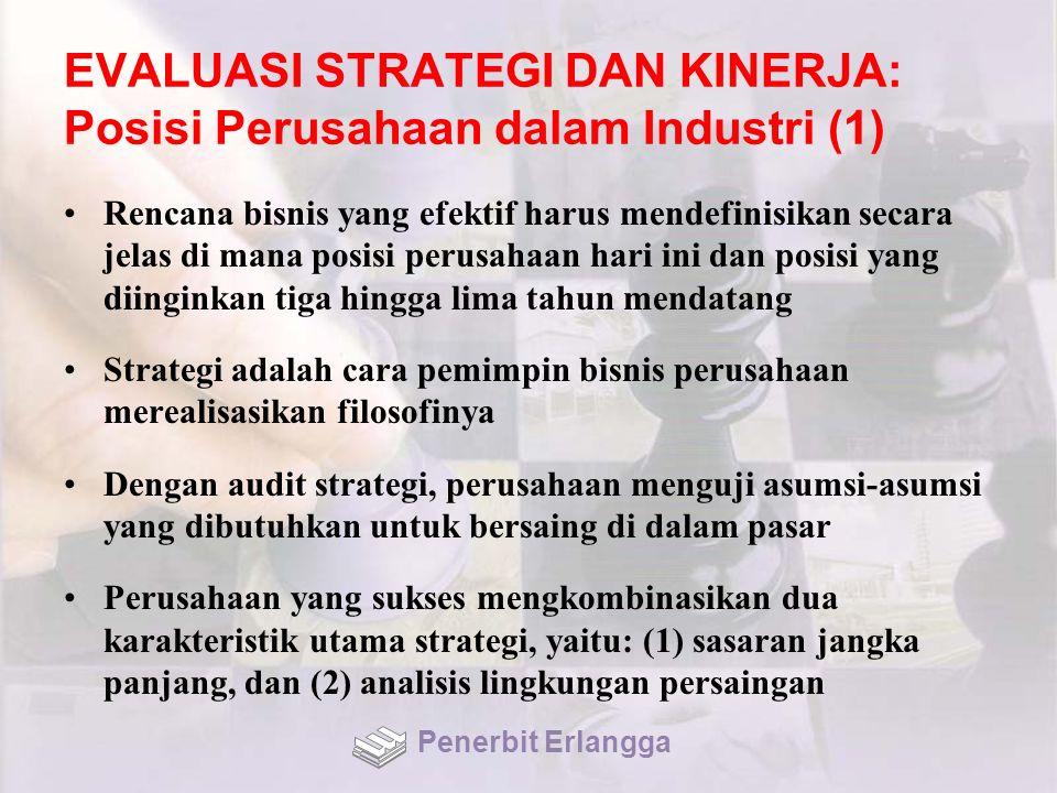 EVALUASI STRATEGI DAN KINERJA: Posisi Perusahaan dalam Industri (1)