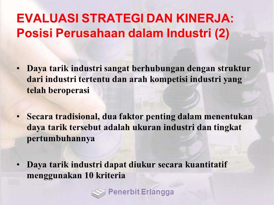 EVALUASI STRATEGI DAN KINERJA: Posisi Perusahaan dalam Industri (2)