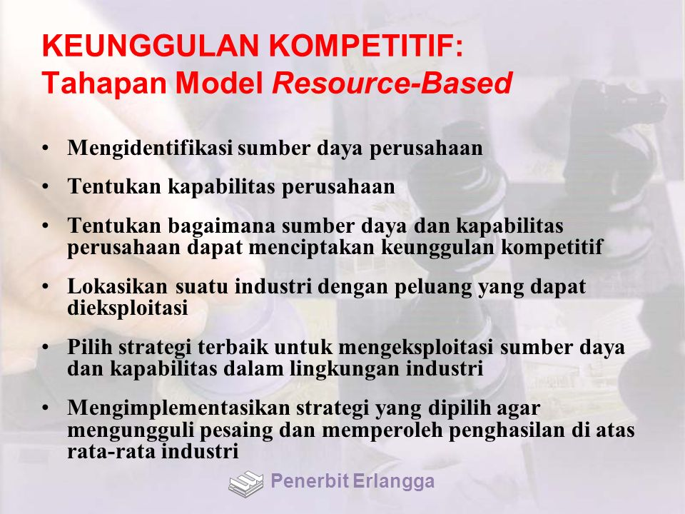 KEUNGGULAN KOMPETITIF: Tahapan Model Resource-Based