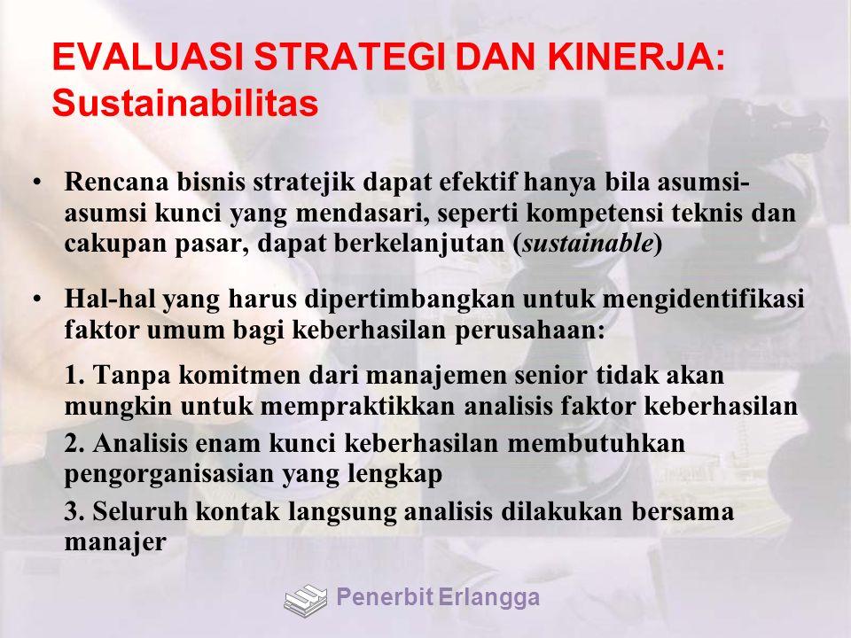 EVALUASI STRATEGI DAN KINERJA: Sustainabilitas