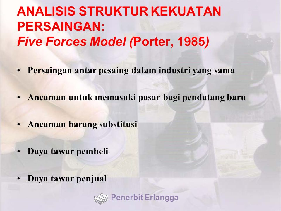 ANALISIS STRUKTUR KEKUATAN PERSAINGAN: Five Forces Model (Porter, 1985)