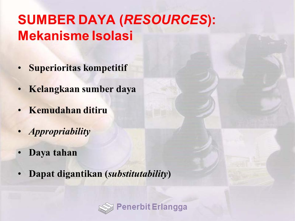 SUMBER DAYA (RESOURCES): Mekanisme Isolasi