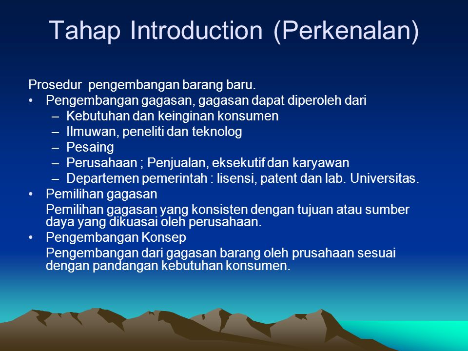 Tahap Introduction (Perkenalan)
