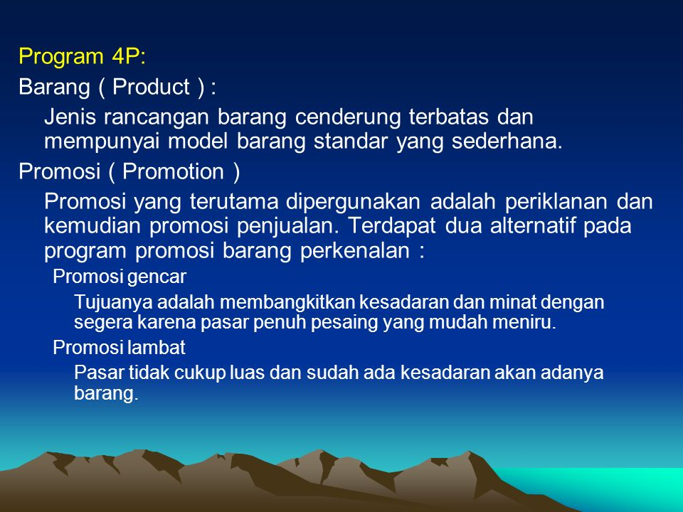 Program 4P: Barang ( Product ) :