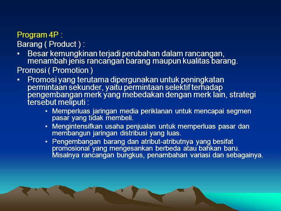 Program 4P : Barang ( Product ) :