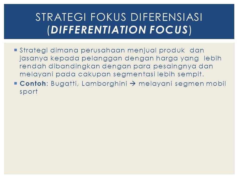 STRATEGI FOKUS DIFERENSIASI (DIFFERENTIATION FOCUS)