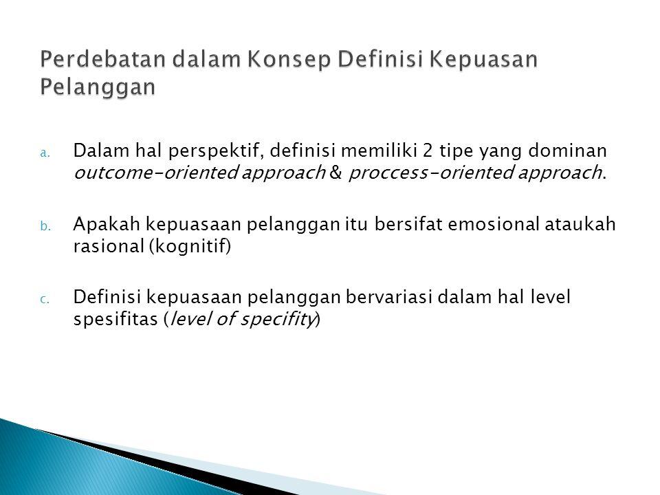 Perdebatan dalam Konsep Definisi Kepuasan Pelanggan