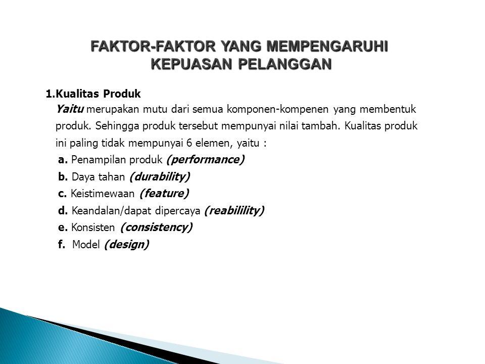 FAKTOR-FAKTOR YANG MEMPENGARUHI KEPUASAN PELANGGAN