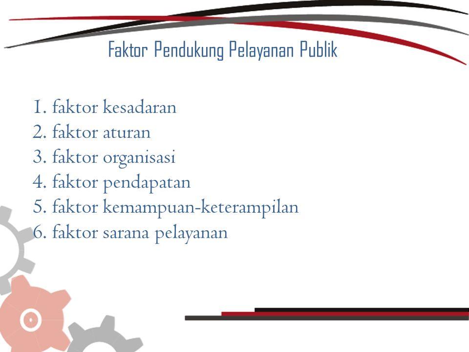 Faktor Pendukung Pelayanan Publik