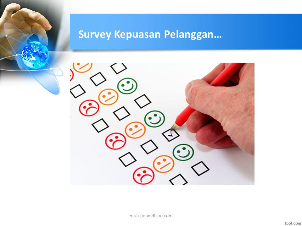 Survey Kepuasan Pelanggan…