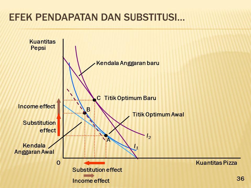Efek Pendapatan dan Substitusi...
