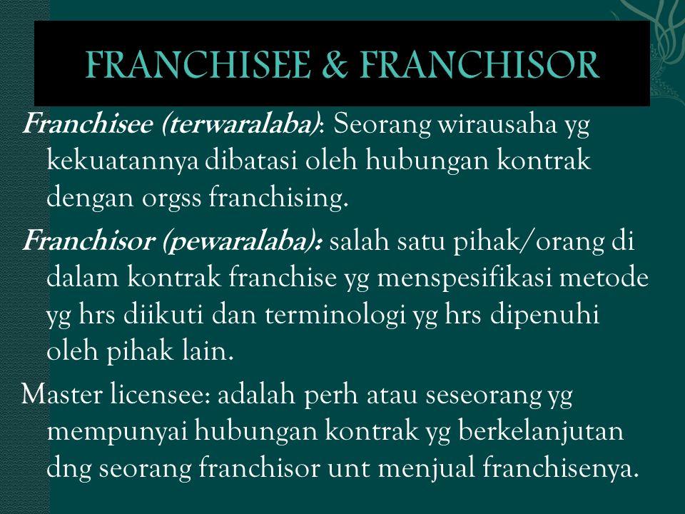 FRANCHISEE & FRANCHISOR