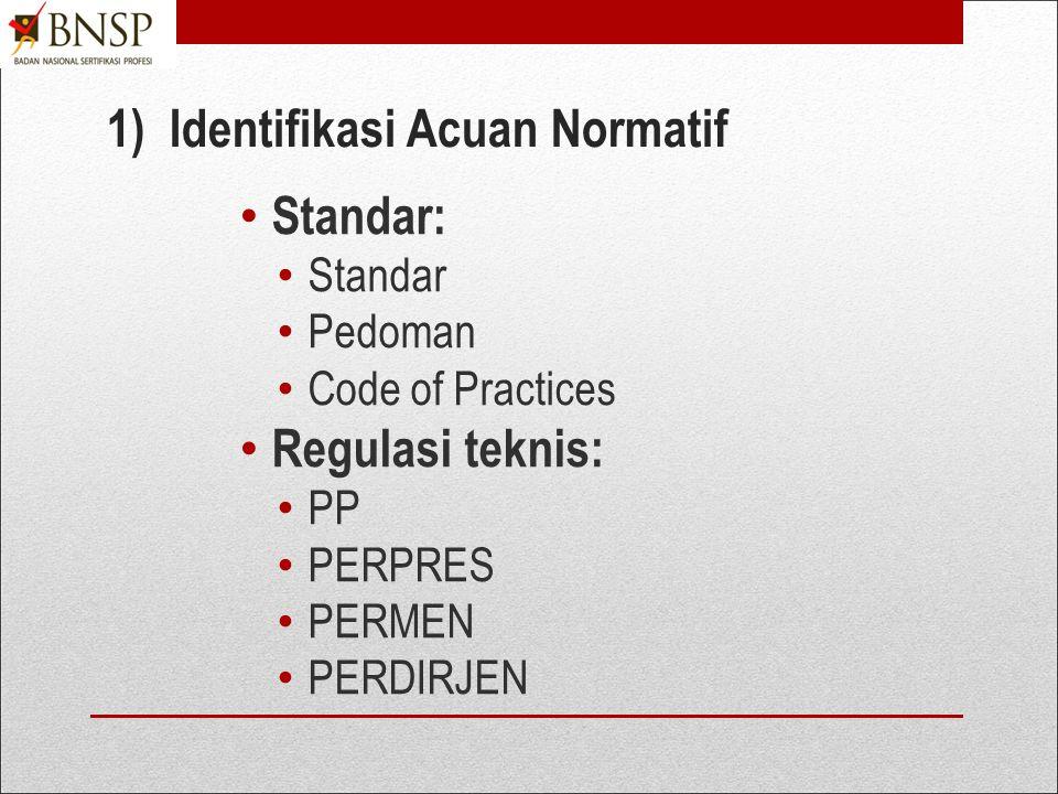 1) Identifikasi Acuan Normatif