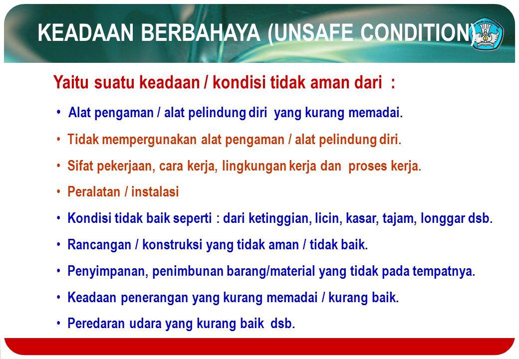 KEADAAN BERBAHAYA (UNSAFE CONDITION).