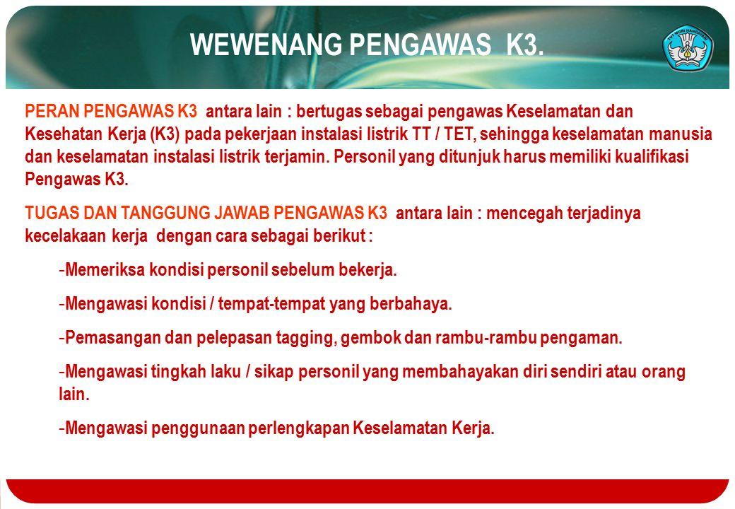 WEWENANG PENGAWAS K3.
