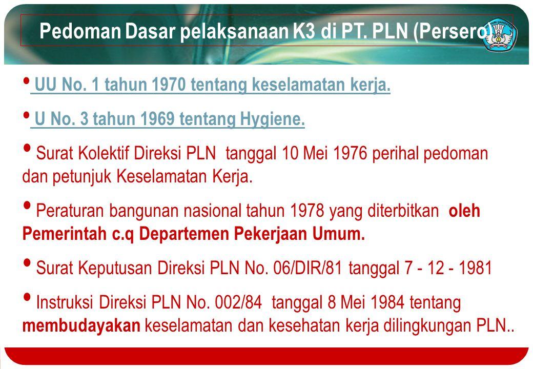 Pedoman Dasar pelaksanaan K3 di PT. PLN (Persero)