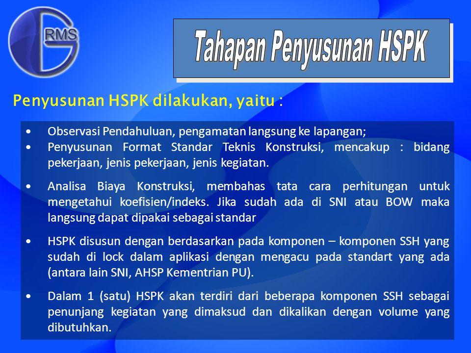 Tahapan Penyusunan HSPK