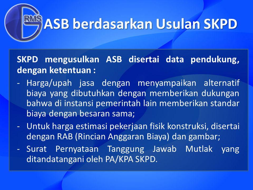 ASB berdasarkan Usulan SKPD