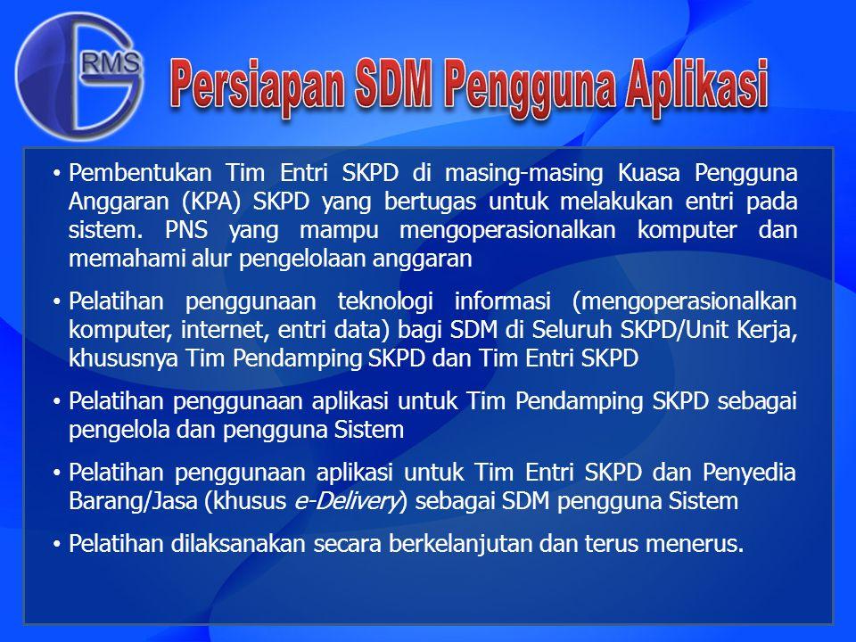 Persiapan SDM Pengguna Aplikasi