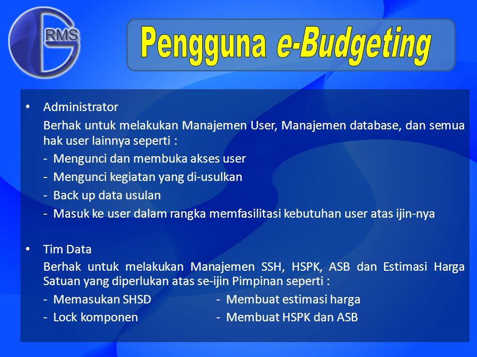 Pengguna e-Budgeting Administrator