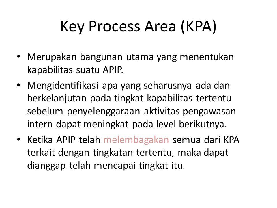 Key Process Area (KPA) Merupakan bangunan utama yang menentukan kapabilitas suatu APIP.