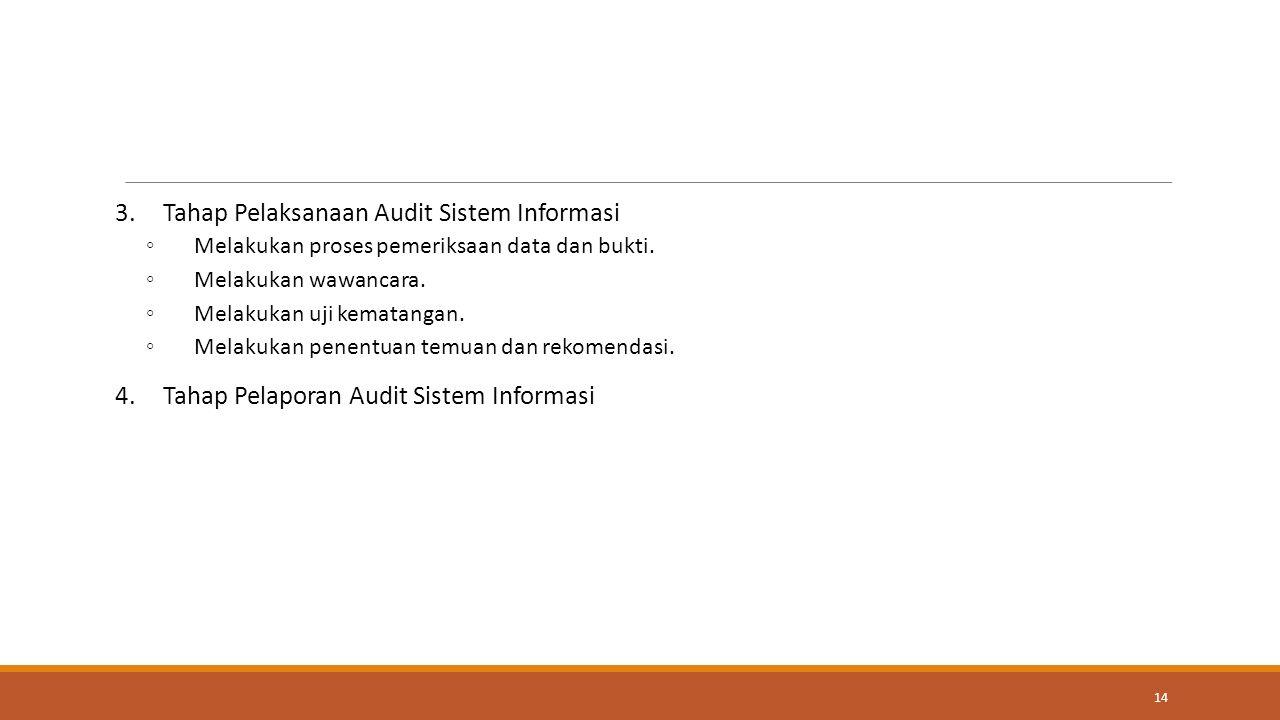Tahap Pelaksanaan Audit Sistem Informasi