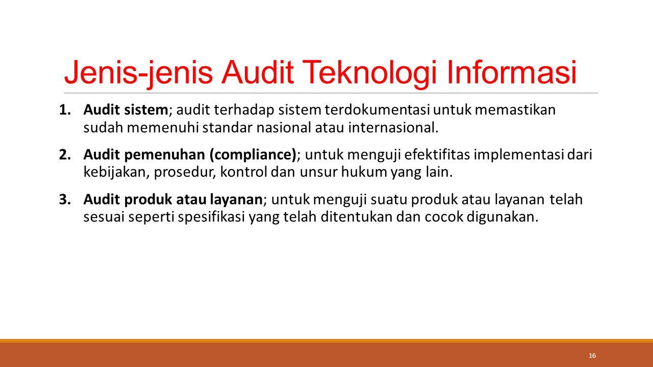 Jenis-jenis Audit Teknologi Informasi