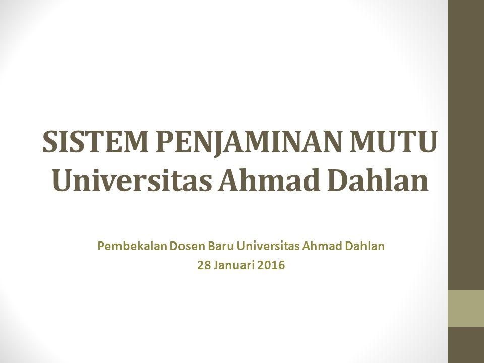 SISTEM PENJAMINAN MUTU Universitas Ahmad Dahlan