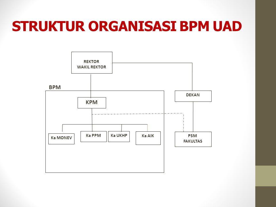 STRUKTUR ORGANISASI BPM UAD