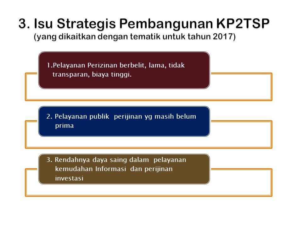 3. Isu Strategis Pembangunan KP2TSP (yang dikaitkan dengan tematik untuk tahun 2017)