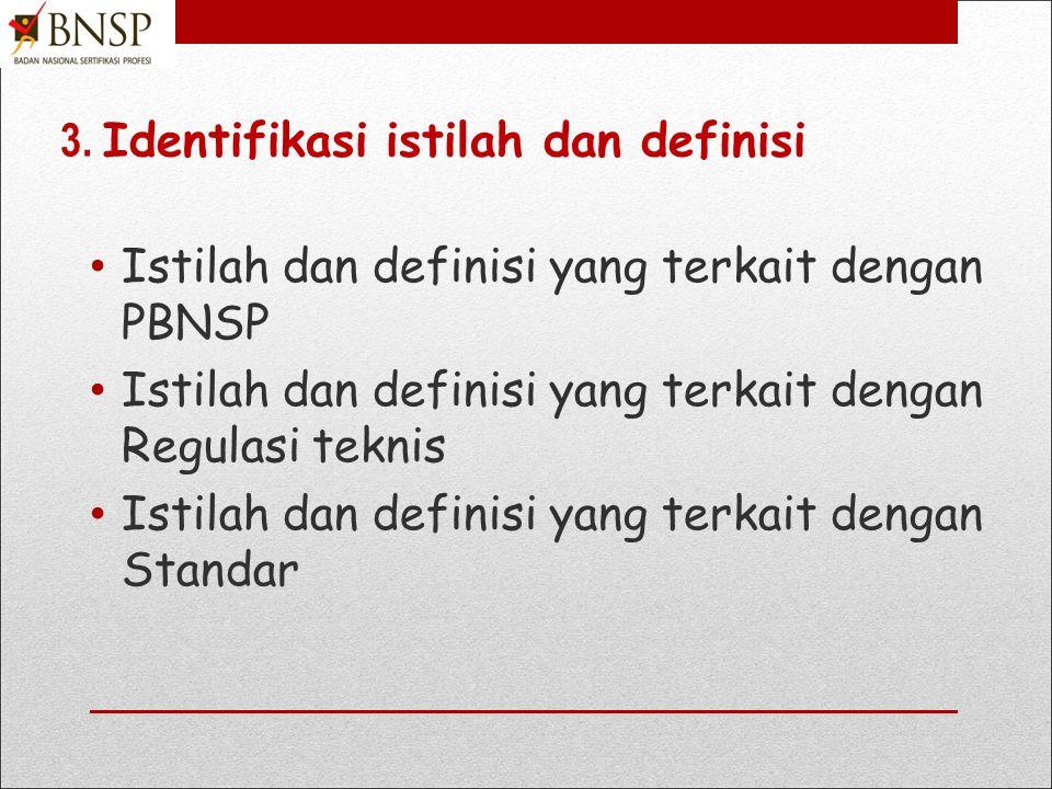 3. Identifikasi istilah dan definisi