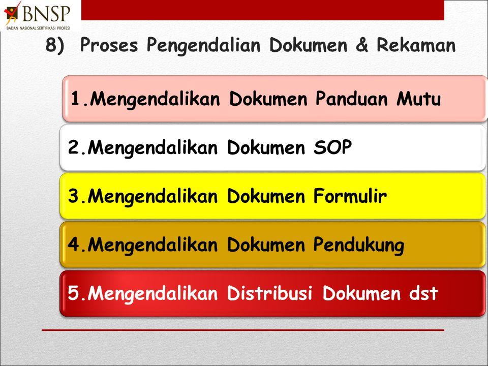 8) Proses Pengendalian Dokumen & Rekaman